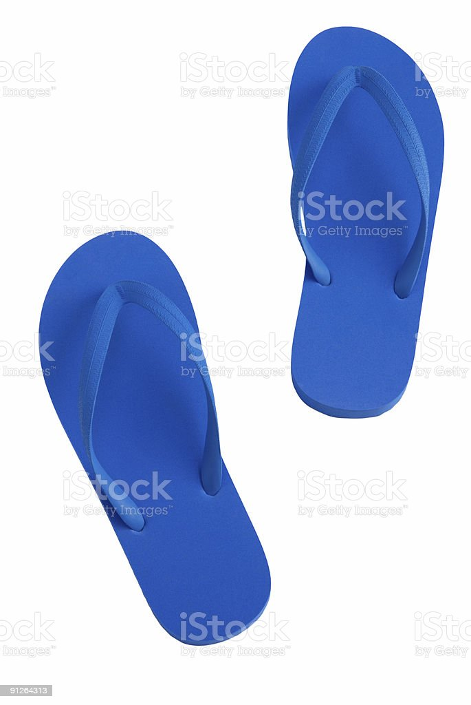 Blue Sandals royalty-free stock photo