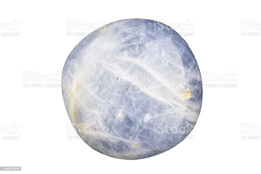 Blue sapphire cabochon stock photo