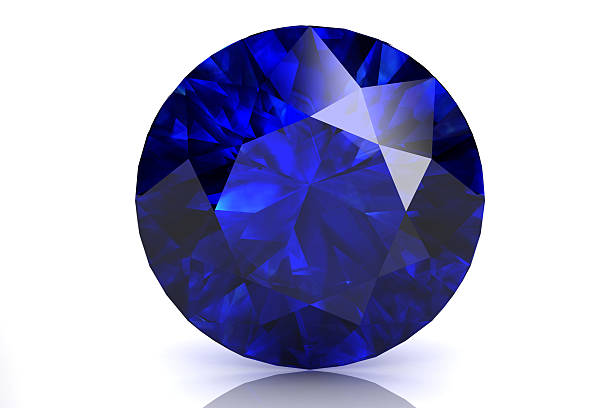 blue sapphire - sapphire gemstone stock photos and pictures