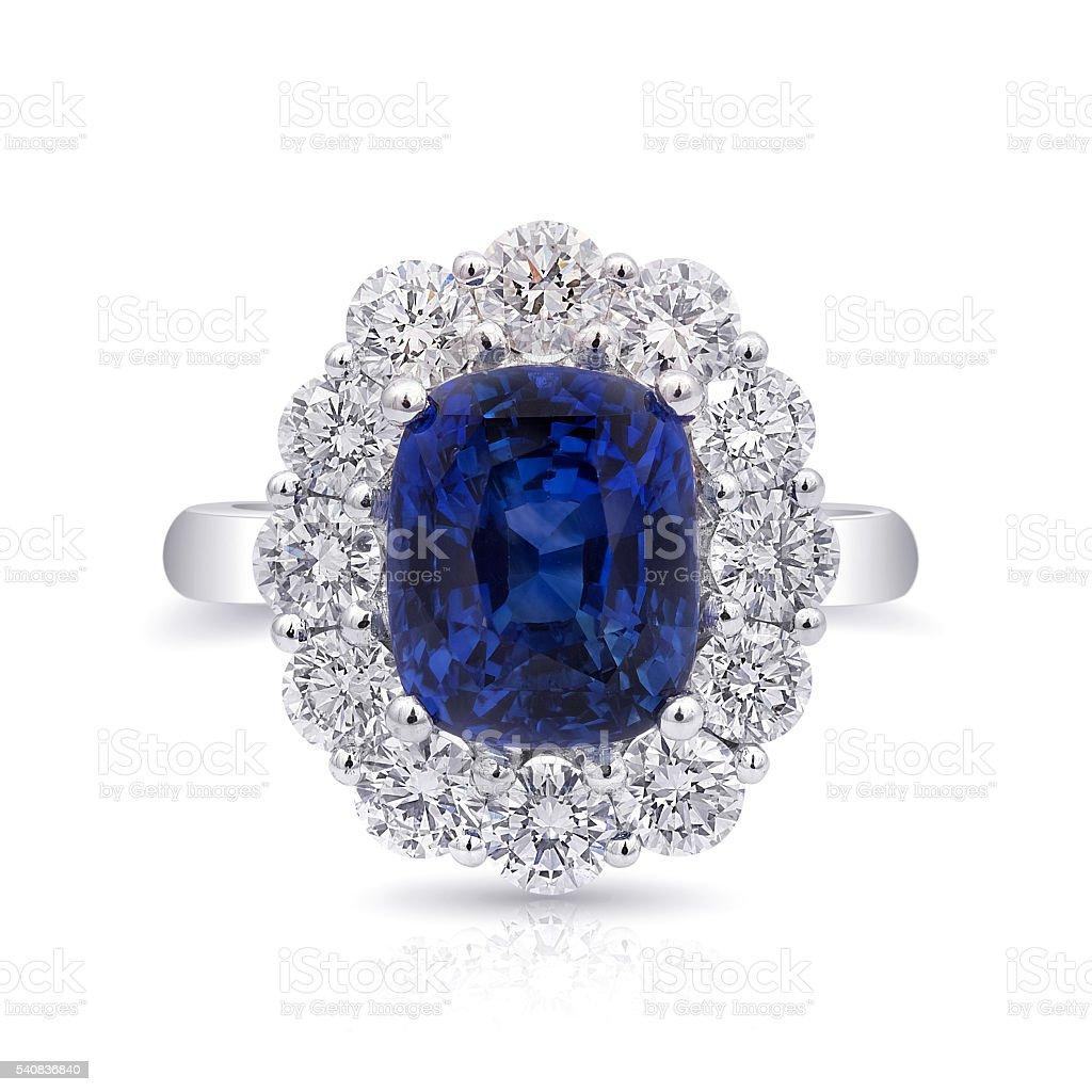 Blue Sapphire Ring stock photo