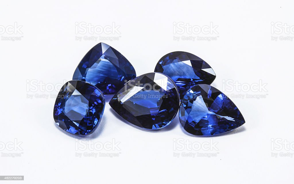 blue sapphires stock photo