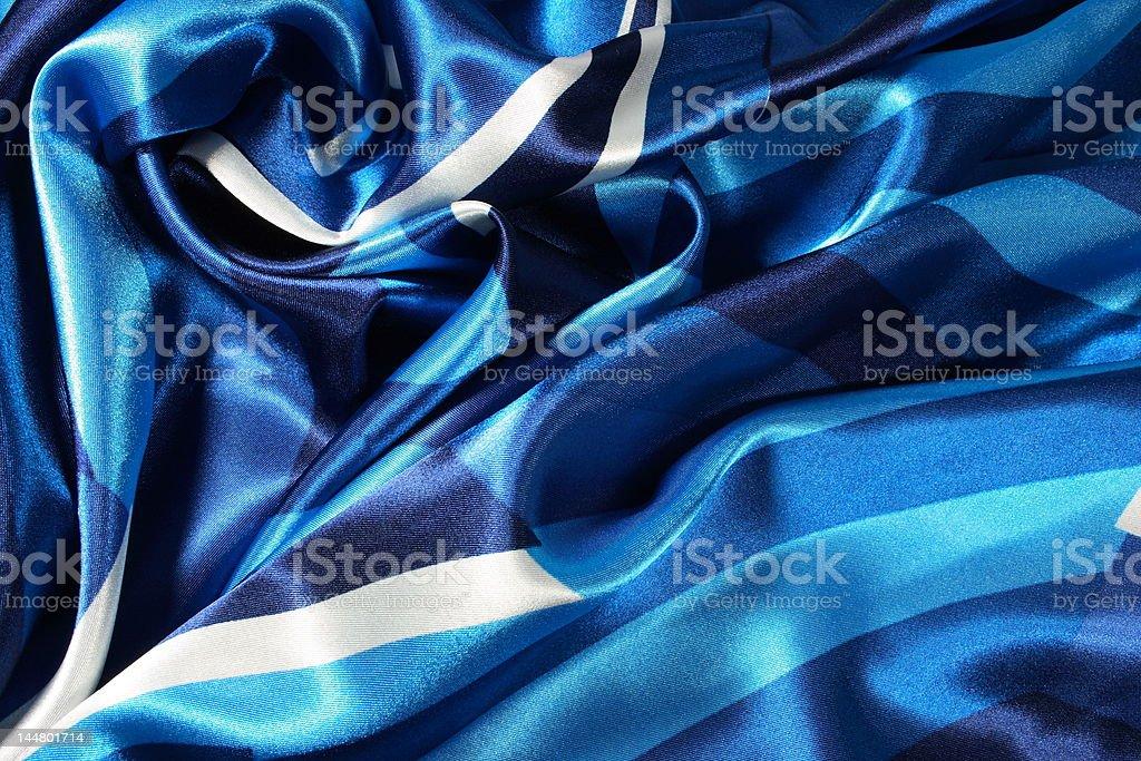 Blue Satin - Abstract Heart Shapes royalty-free stock photo