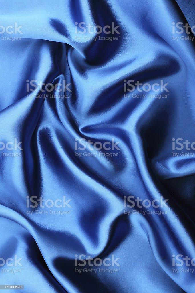 Blue satin background stock photo