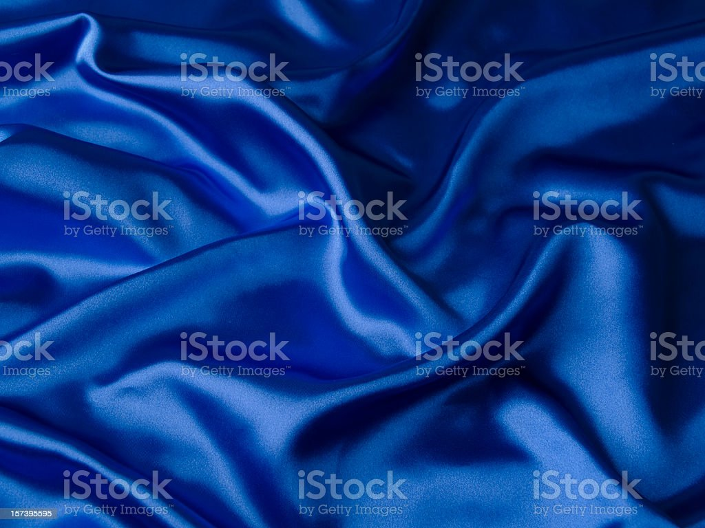 Blue satin royalty-free stock photo