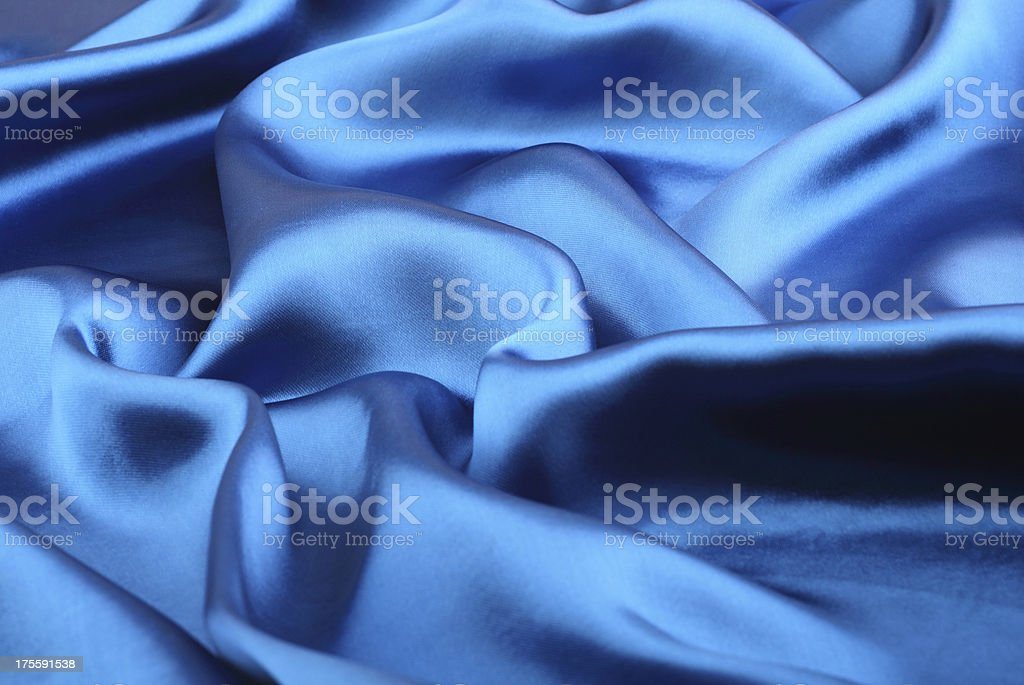 Blue satin stock photo