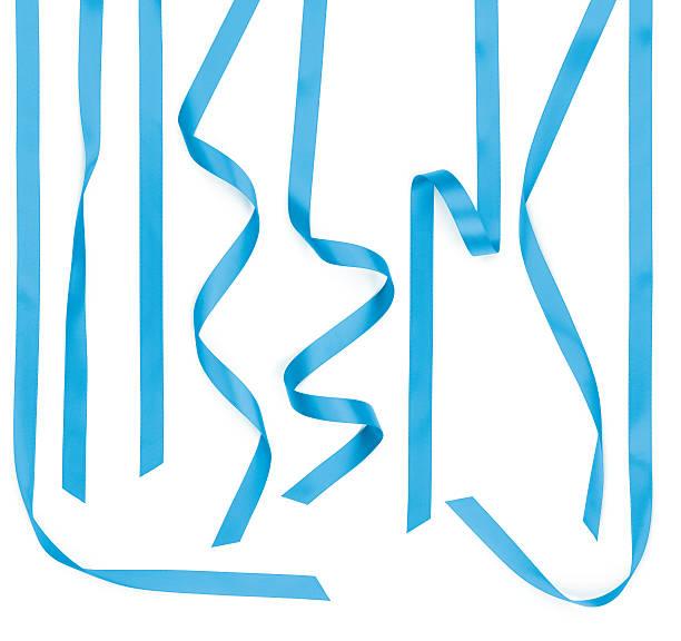 Blauer Satin-Streifen, isoliert auf weiss – Foto