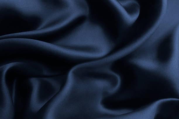 blå satin siden, elegant tyg för bakgrunder - satäng bildbanksfoton och bilder
