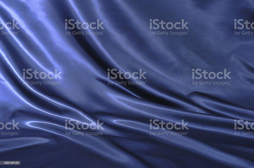Blue satin textile stock photo