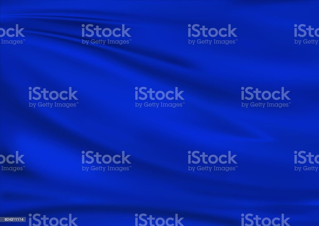blue satin textile texture background fabric. stock photo