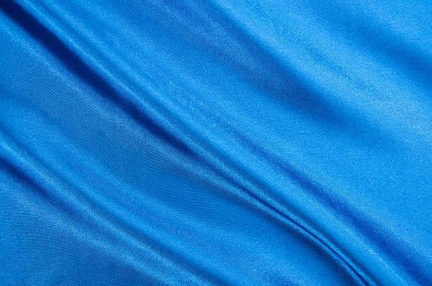 Blauer satin Textur. – Foto
