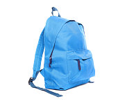 istock Blue school backpack isolated on white 1258122517