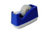 istock Blue scotch tape holder isolated over white background 467985947