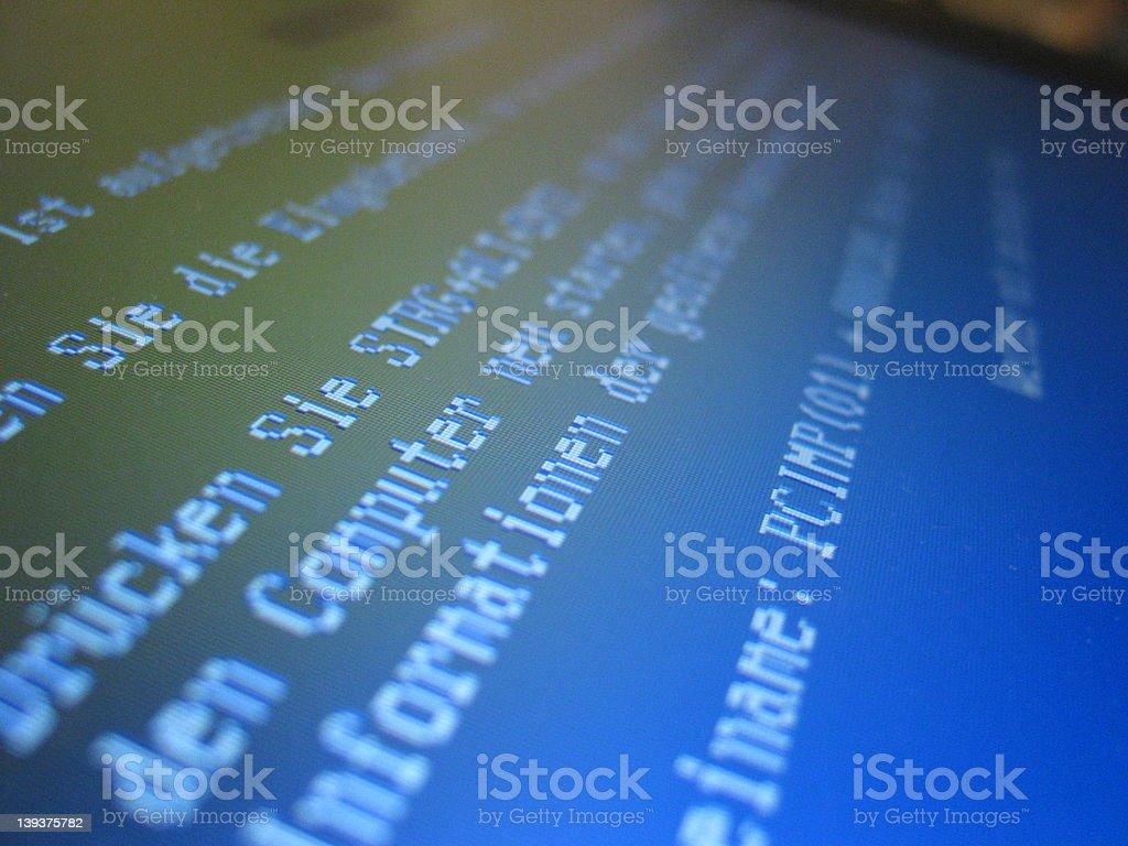 Blue screen stock photo