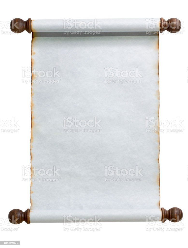 Blue Scroll royalty-free stock photo