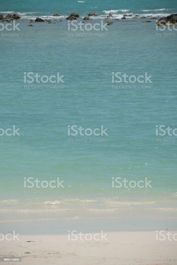Blue sea and cliff zbiór zdjęć royalty-free