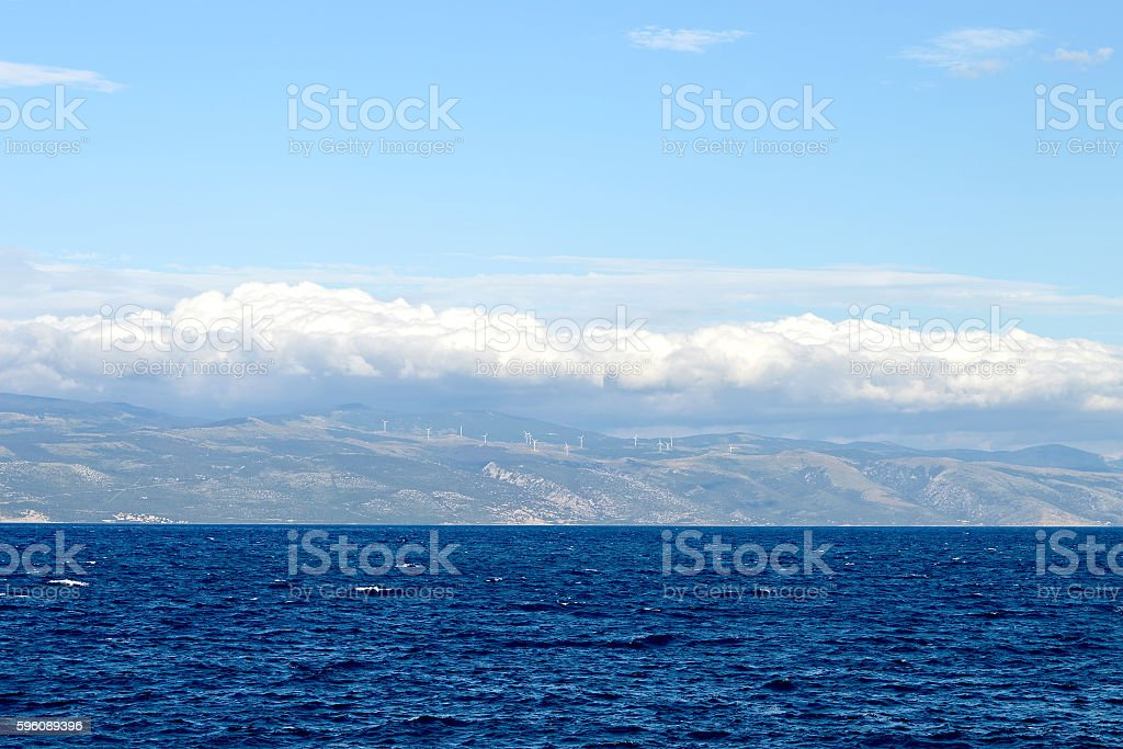 Blue sea and clouds above royalty-free stock photo