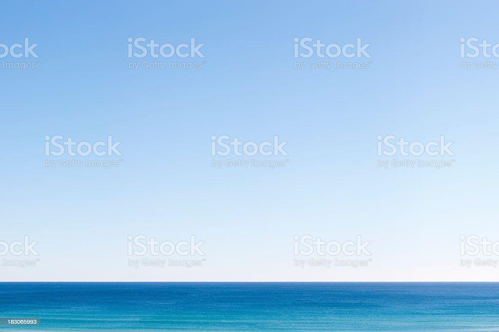 Blue Sea and Sky royalty-free stock photo