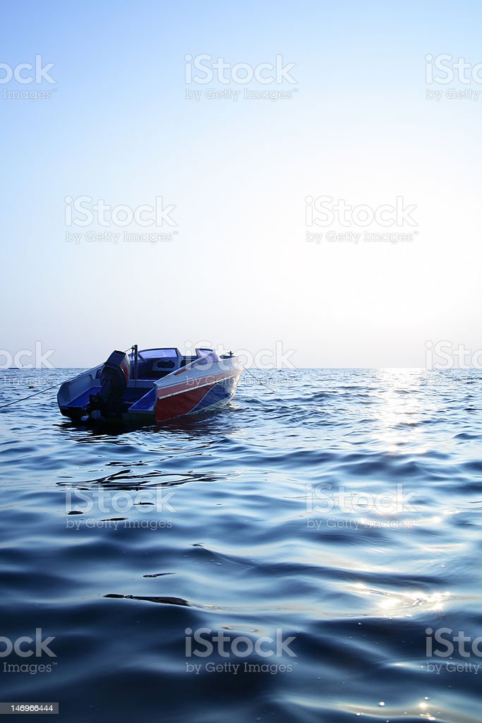 Blue sea and sun royalty-free stock photo
