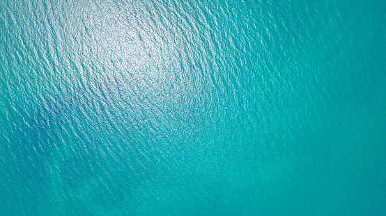 Blue sea for background