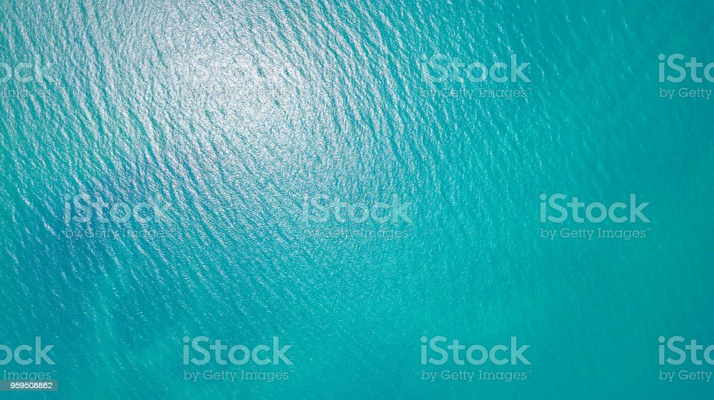 Blue sea for background stock photo