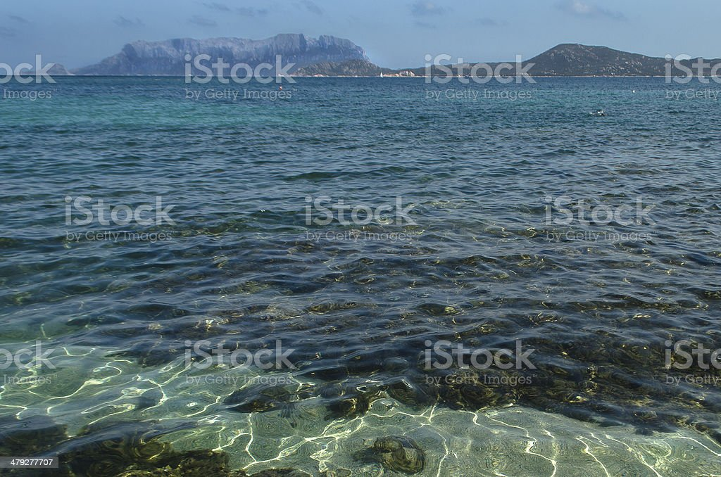 Blue sea in the summer stock photo