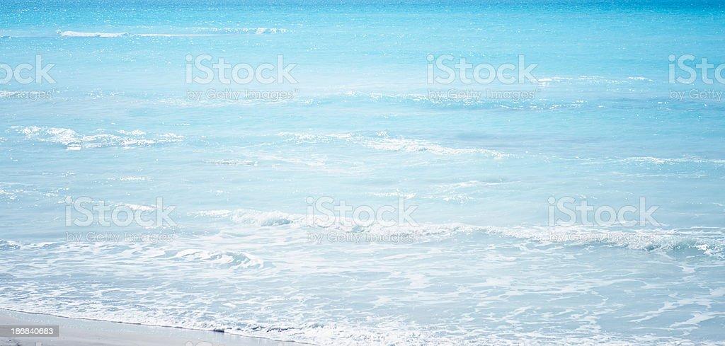 Blue sea on caribbean beach at summer royalty-free stock photo