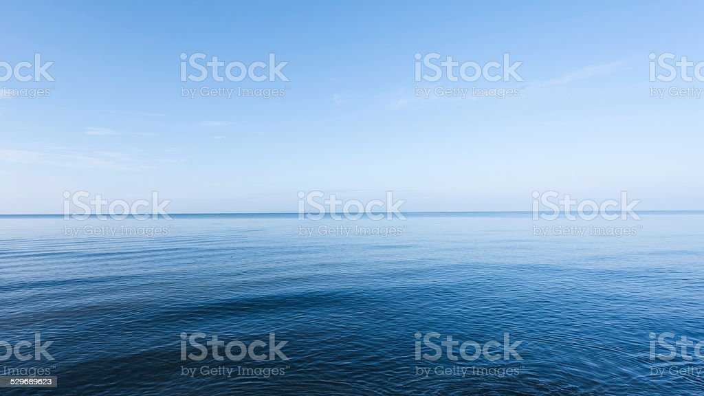Blue sea stock photo