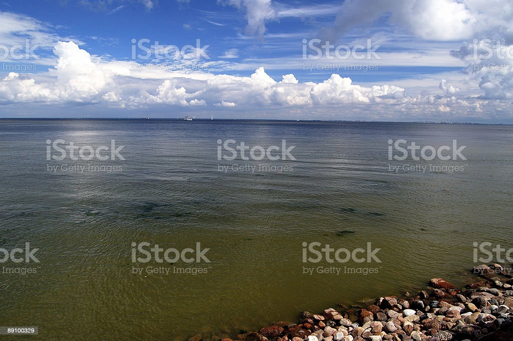 blue sea & sky royalty-free stock photo