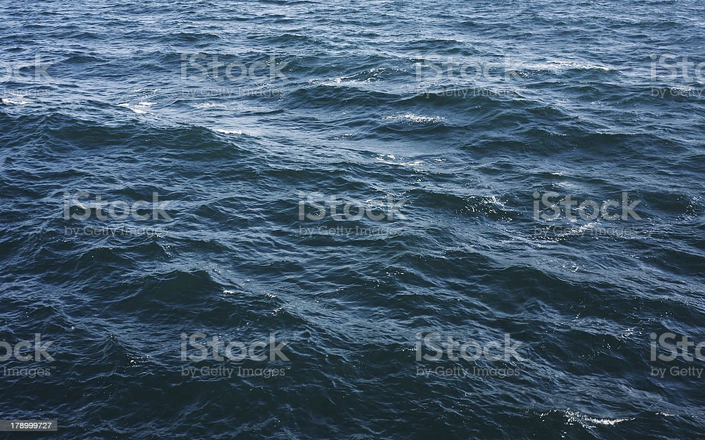 Blue sea surface royalty-free stock photo