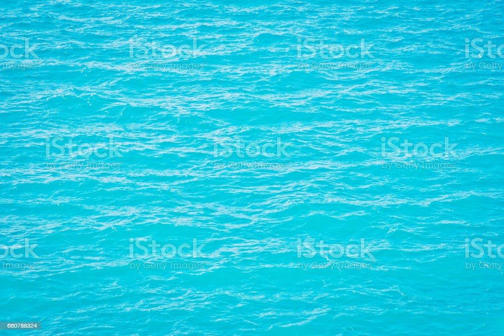 Blue sea surface stock photo