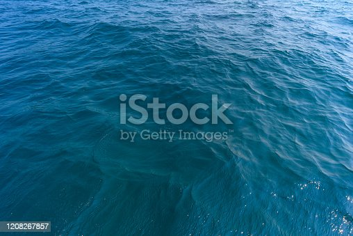 912159408 istock photo Blue sea surface texture background 1208267857
