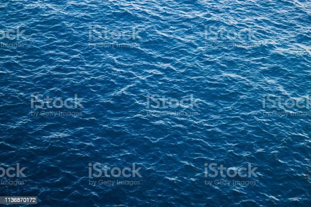Photo of Blue sea water background, Atlantic