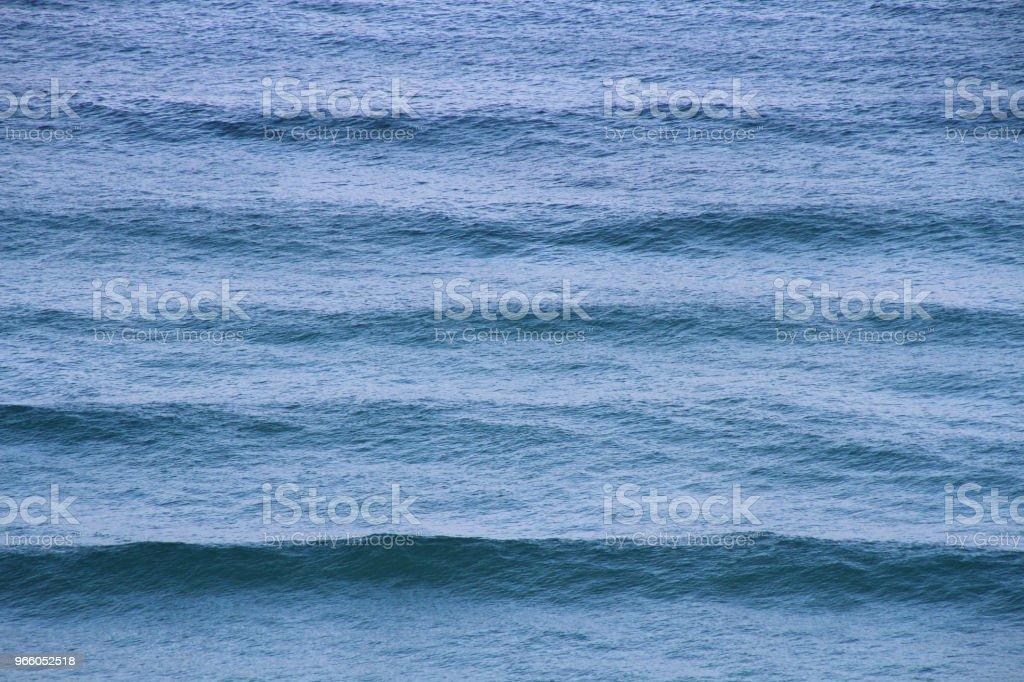 blue sea waves of the Tyrrhenian sea - Royalty-free Aerial View Stock Photo