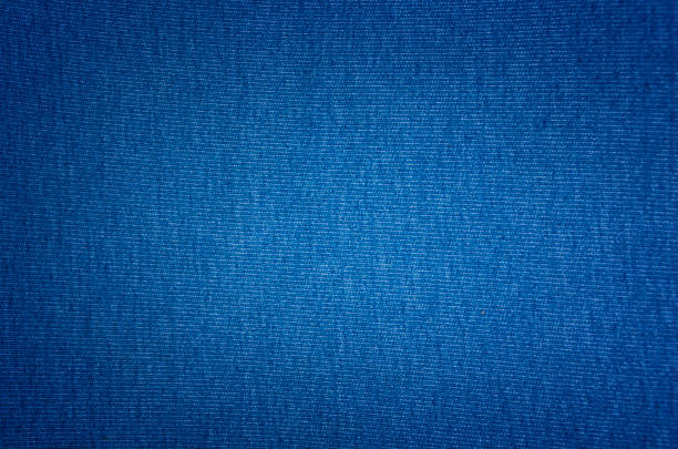 Blue seamless fabric texture background stock photo