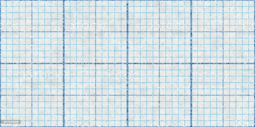 Blue Seamless Millimeter Paper Background. Tiling Graph Grid Texture. Empty Lined Pattern. – zdjęcie