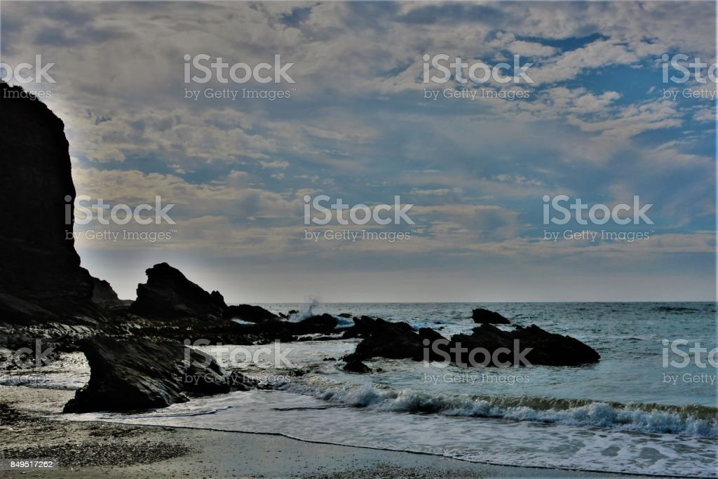 blue seascape stock photo