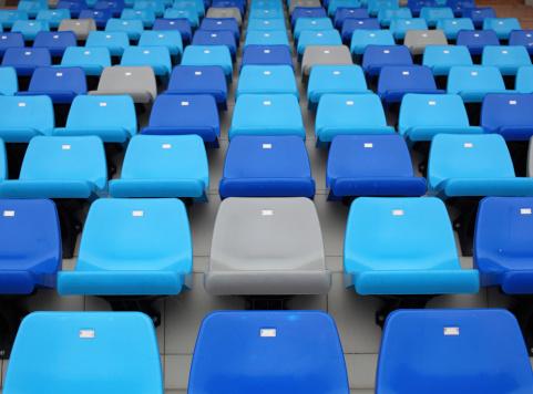 171581046 istock photo Blue seats at stadium 178513108