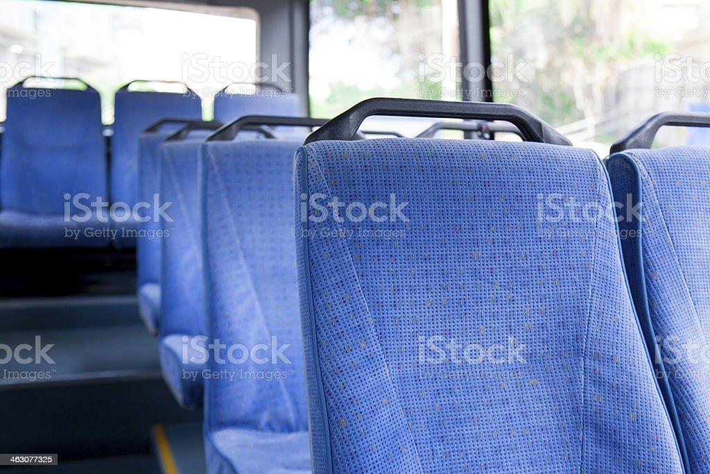 Azul licencias en autobús - foto de stock