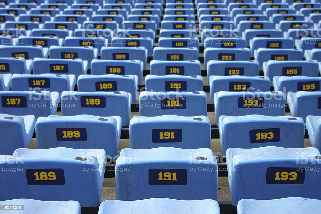 Blue seats in stadium 1 royalty-free stock photo