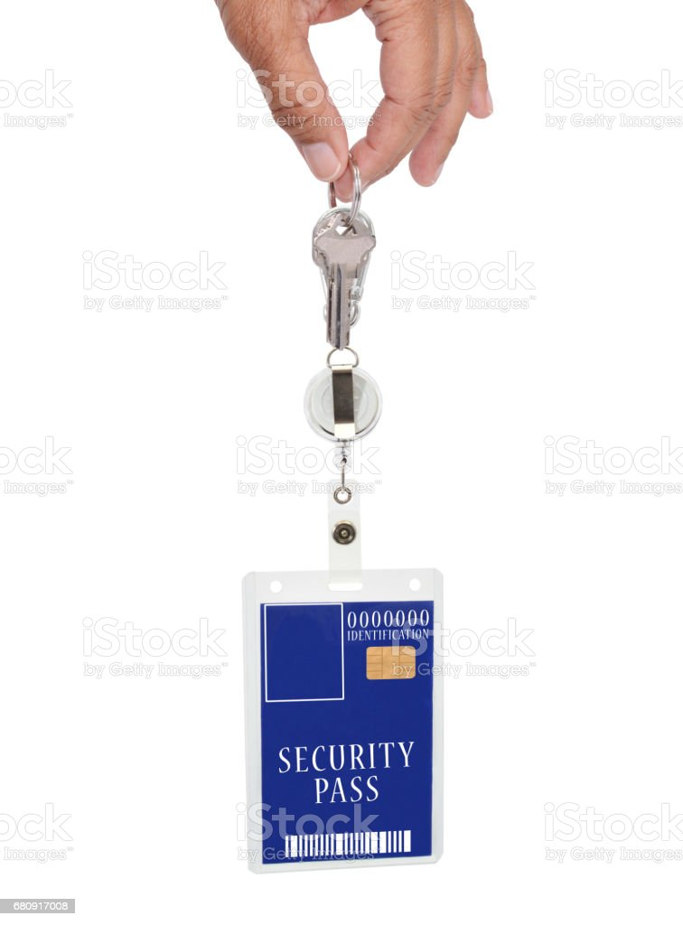 Blue Security Badge royalty-free stock photo