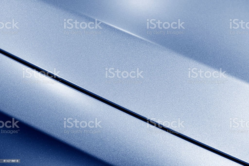 Blue sedan bodywork stock photo