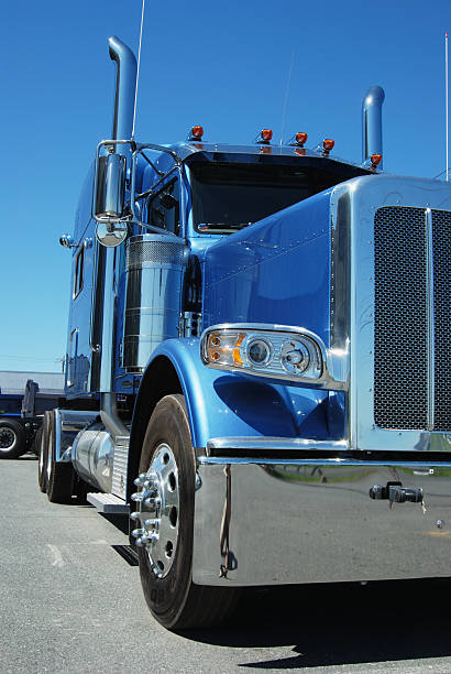 Royalty Free Blue Tractor Trailer Pictures, Images and Stock Photos ...