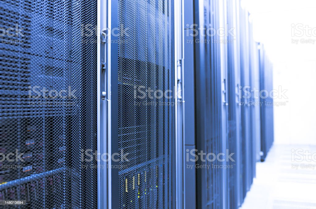 Blue Server Room royalty-free stock photo