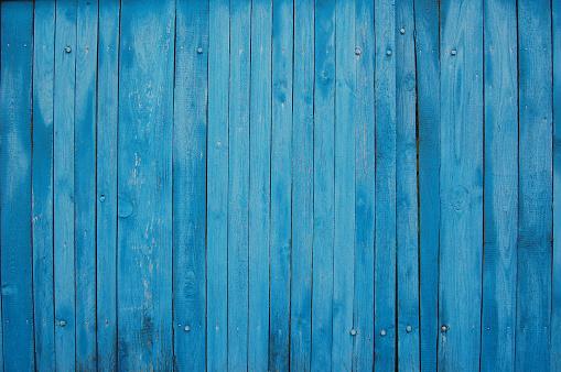 blue shabby wooden planks