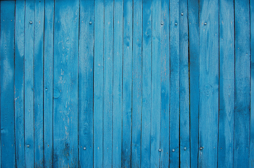 blue shabby wooden planks