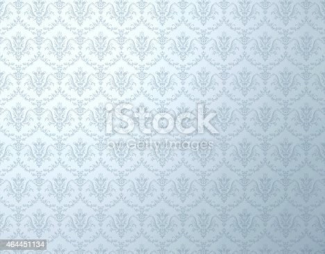 istock Blue shaded floral background pattern 464451134
