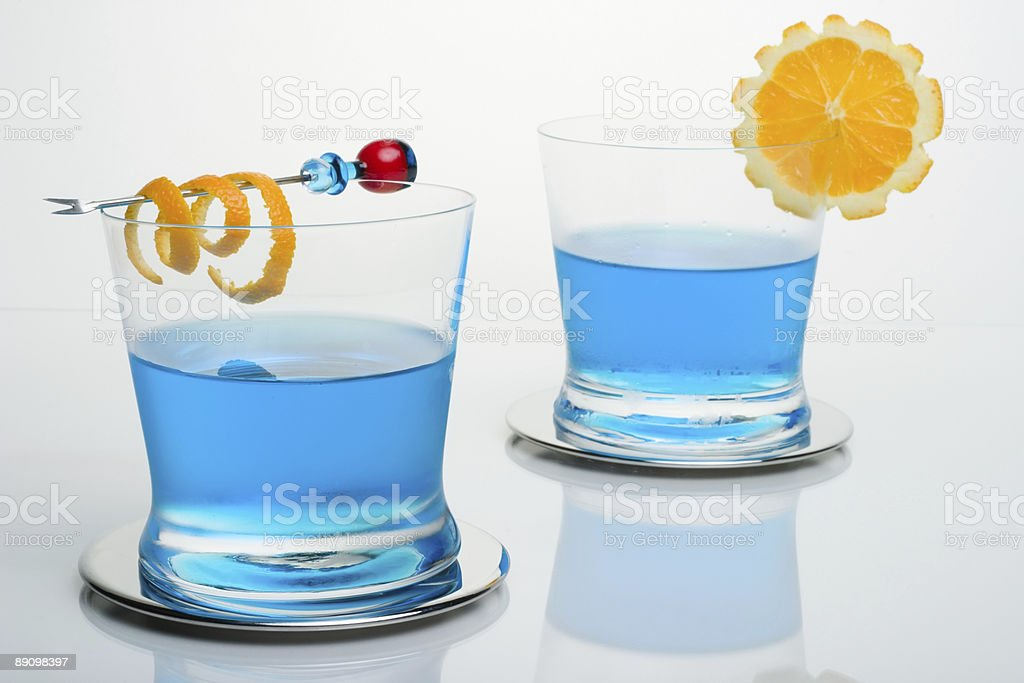 Blauhai cocktail Lizenzfreies stock-foto