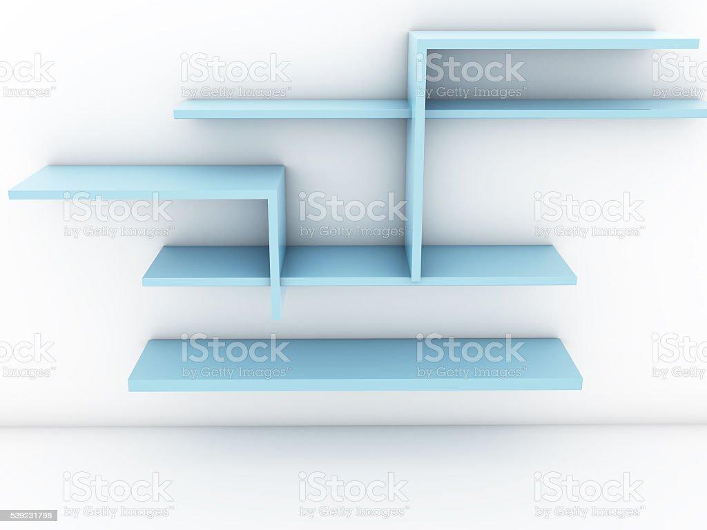 Azul estantes foto de stock libre de derechos