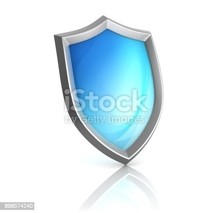 1125351850 istock photo Blue shield 3d isolated illustration 898574240