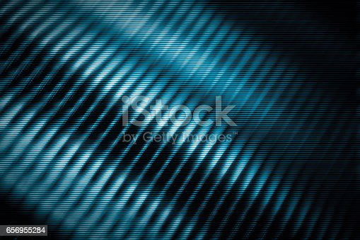 istock blue, shine, metal texture with aluminium cooling fins 656955284